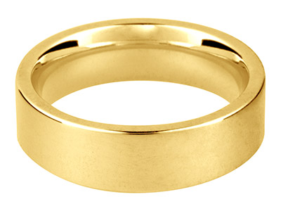 9ct Yellow Gold Easy Fit           Wedding Ring 6.0mm, Size U, 7.3g   Medium Weight, Hallmarked, Wall    Thickness 1.79mm, 100 Recycled    Gold