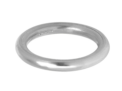 Silver Halo Wedding Ring 2.0mm,    Size I, 1.8g Heavy Weight,         Hallmarked, Wall Thickness 2.00mm