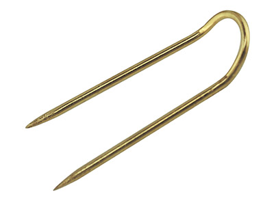 Gilt Pad Pins 25mm Long Pack of 100