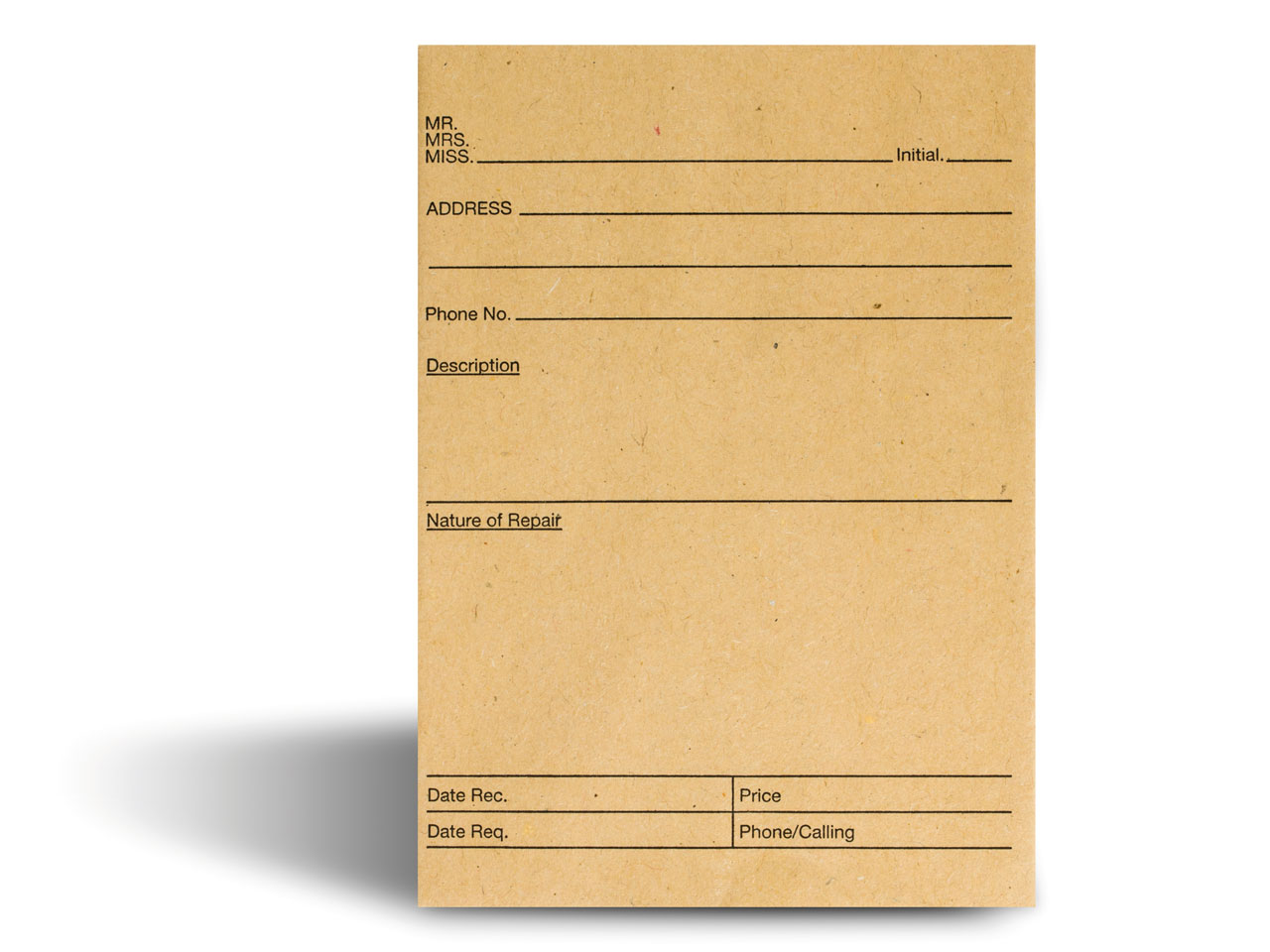 Repair Envelopes With Printed      Format Pack of 100,