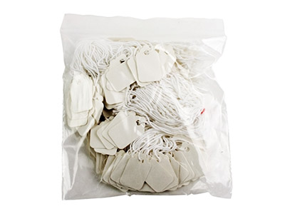 Cotton Jewellery Tags Pack of 200  14mm X 25mm