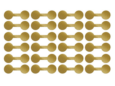 Gold Dumbbell Jewellery Labels     Pack of 144 12mm X 35mm