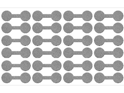Silver Dumbbell Jewellery Labels   Pack of 144 12mm X 35mm