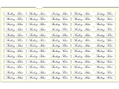 Sterling Silver Jewellery Labels,  Pack of 350, 31mm X 10mm