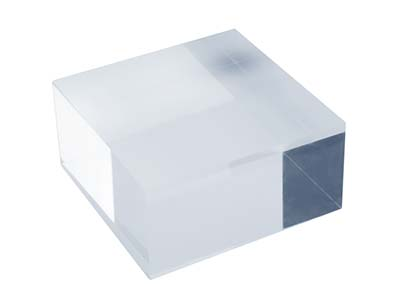 Solid Clear Acrylic Jewellery Display Block Small