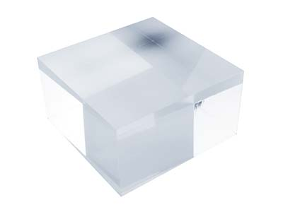 Solid Clear Acrylic Jewellery      Display Block, Medium