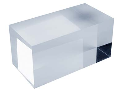 Solid Clear Acrylic Jewellery      Display Block, Large
