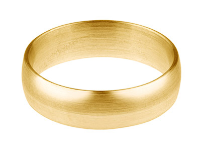 18ct Yellow Gold Blended Court     Wedding Ring 6.0mm, Size W, 1.3mm  Wall, Hallmarked, Wall Thickness   1.30mm, 100 Recycled Gold
