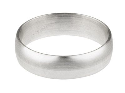 18ct White Gold Blended Court      Wedding Ring 6.0mm, Size W, 1.3mm  Wall, Hallmarked, Wall Thickness   1.30mm, 100 Recycled Gold