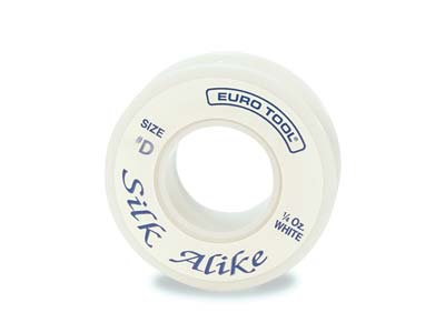 Silk Alike White Thread, Size 1,   89.6 Metre Spool