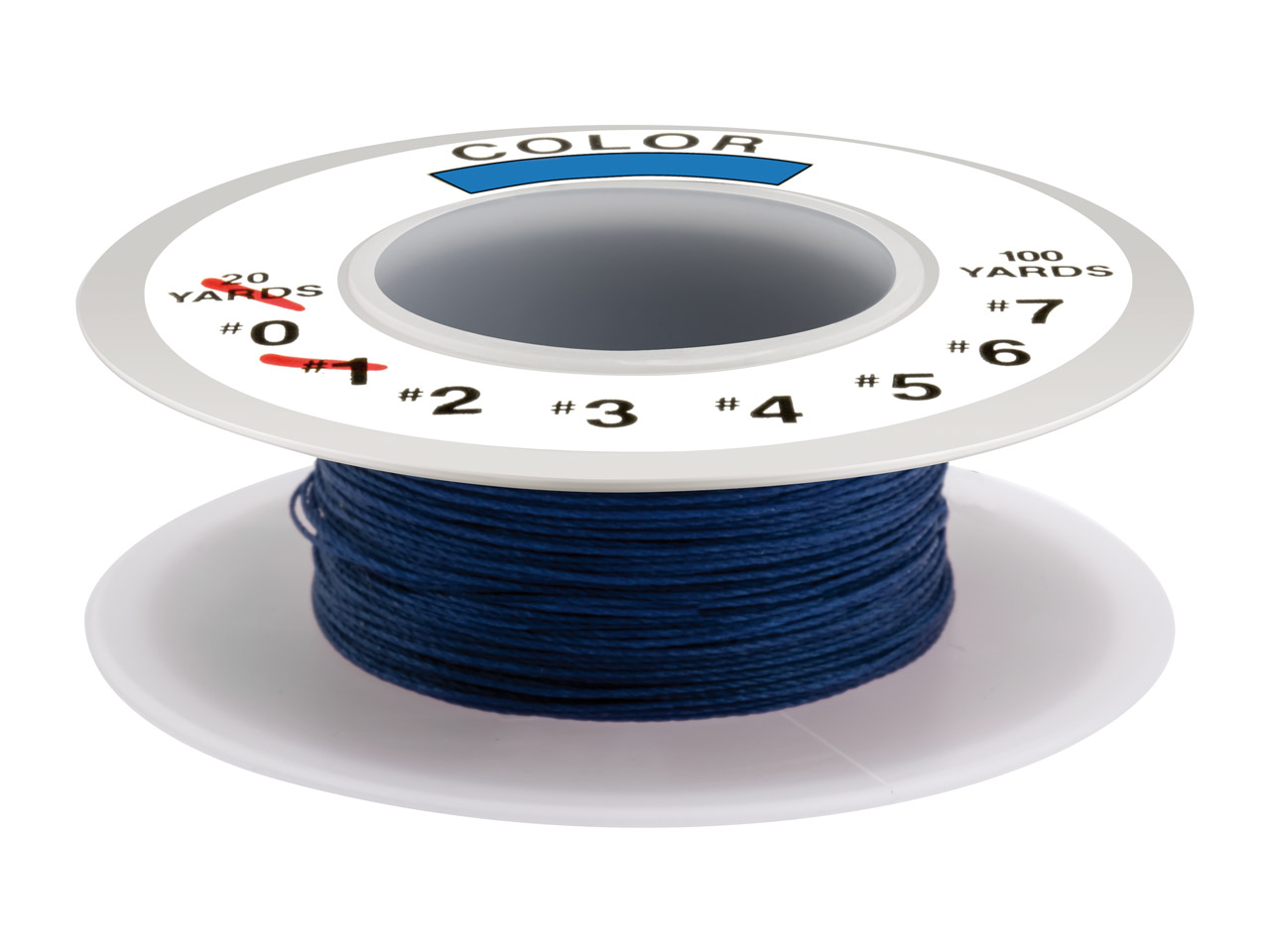 Silkon Thread Blue, Size 1, 18     Metre Spool