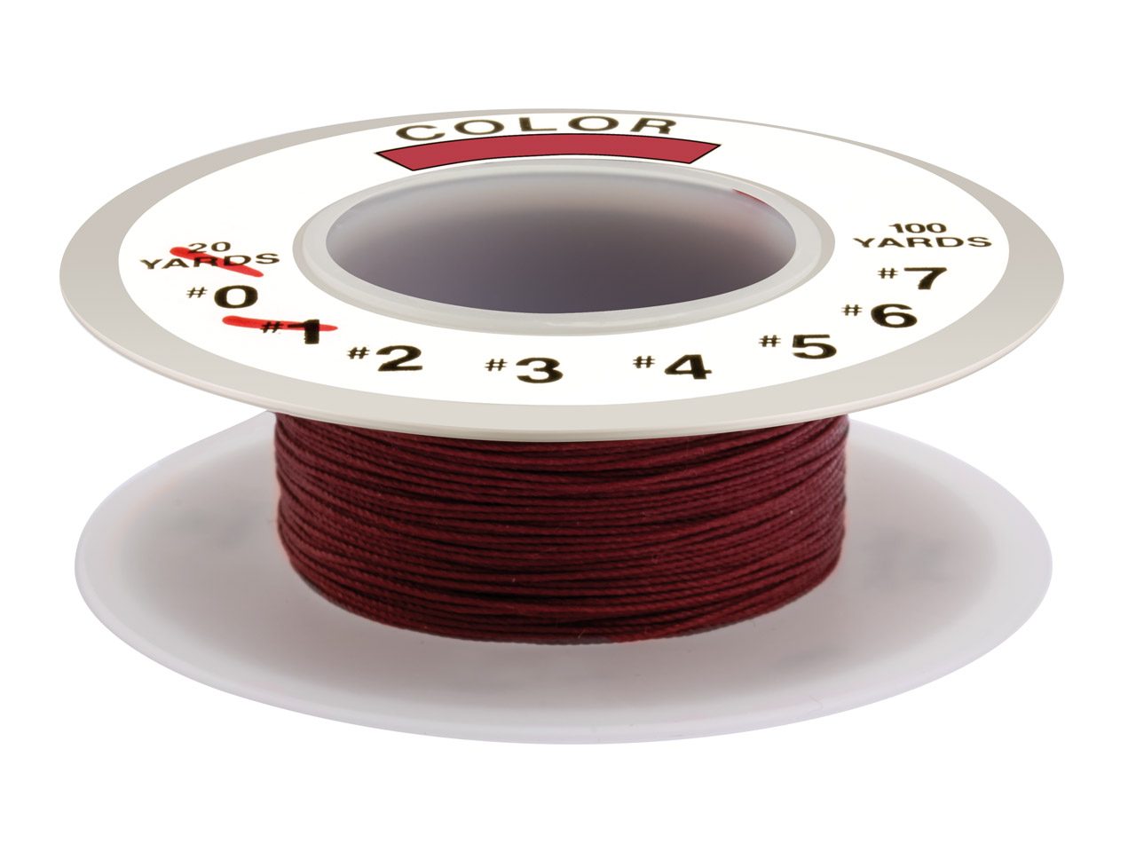 Silkon Thread Red, Size 1, 18 Metre Spool