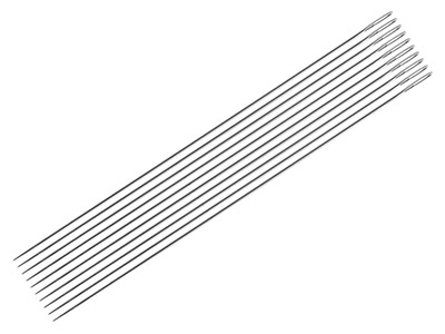 Straight Beading Needles          Pack of 10 0.45mm Size 10