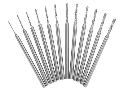 Busch 203 HSS Shank Drill Set Of 12 0.5-016