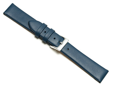 Dark Blue Calf Watch Strap 14mm    Genuine Leather