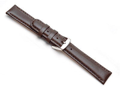 Brown-Padded-Calf-Watch-Strap-20mm-Ge...