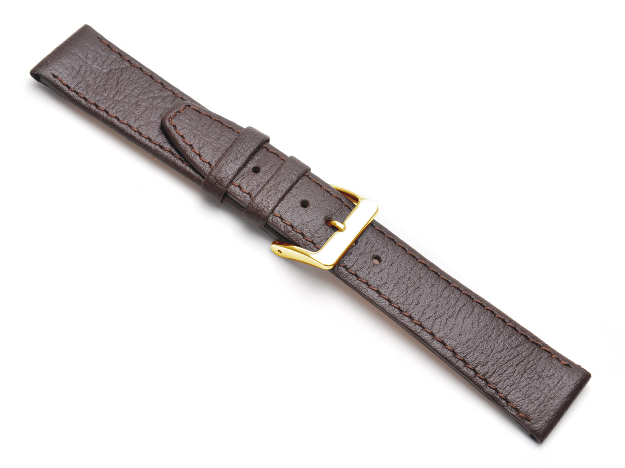 Brown Buffalo Watch Strap 14mm     Genuine Leather