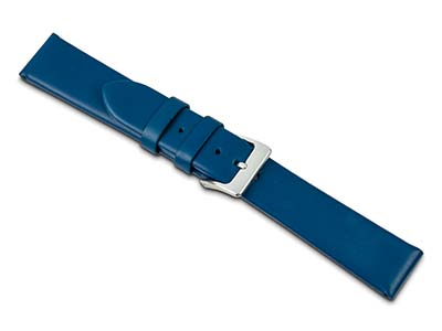 Blue Calf Watch Strap 18mm Genuine Leather