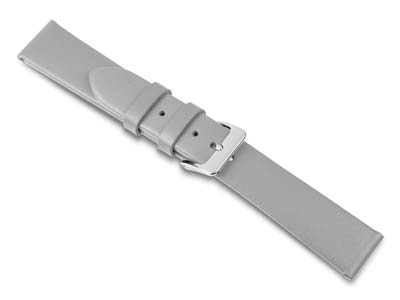Grey Calf Watch Strap 18mm Genuine Leather