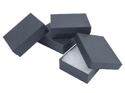 Pack Of 4 Small Black Card Boxes