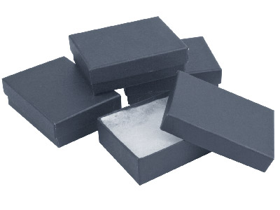Pack Of 4 Medium Black Card Boxes