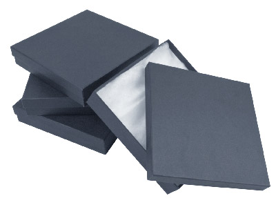 Black Card Boxes, Large, Pack of 4