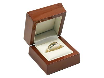 Wooden Ring Box, Mahogany Colour