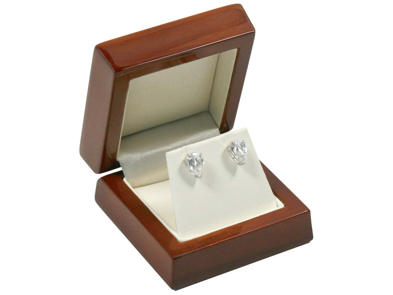 Wooden Stud Earring Box , Mahogany Colour