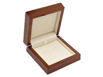Wooden Cufflink Box , Mahogany Colour