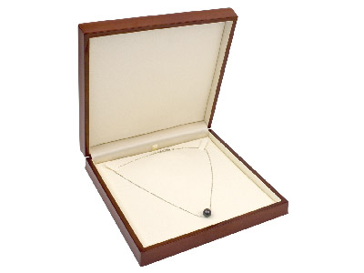 Wooden Necklace Box, Mahogany      Colour