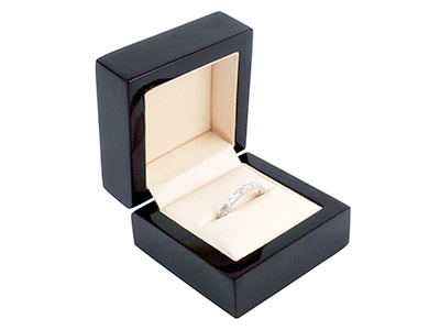 Wooden Ring Box, Black Colour