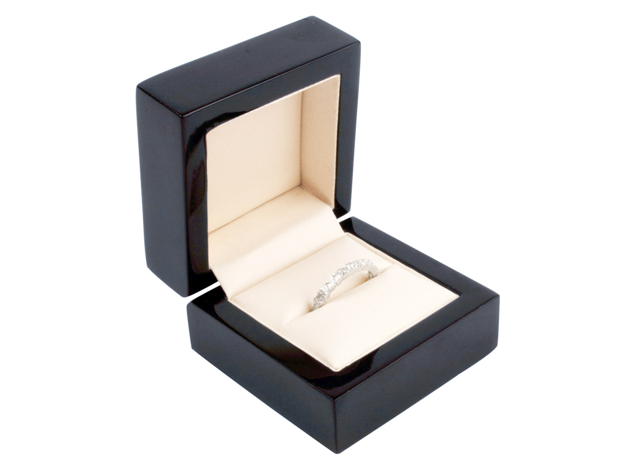 Black Wooden Ring Box