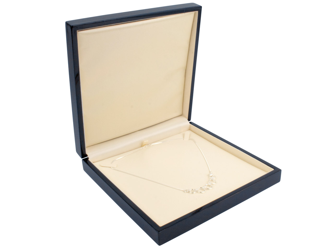 Black Wooden Necklace Box