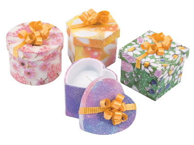 Pack Of 4 Sussy Boxes, Suitable For Ring Or Stud Earrings