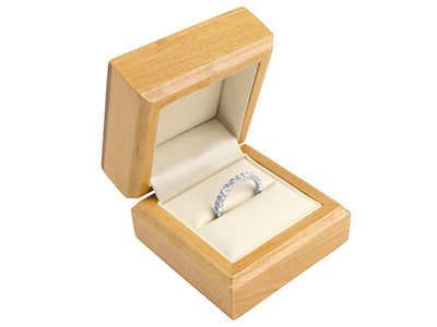 Wooden Ring Box  Maple Colour