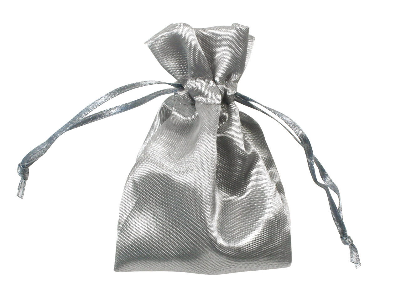 Satin Pouches Silver 7.6cm X 10cm  Pack of 6