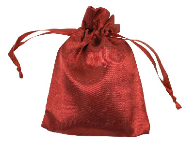 Pack Of Six Satin Pouch Burgundy 10 X 13.9 Cm
