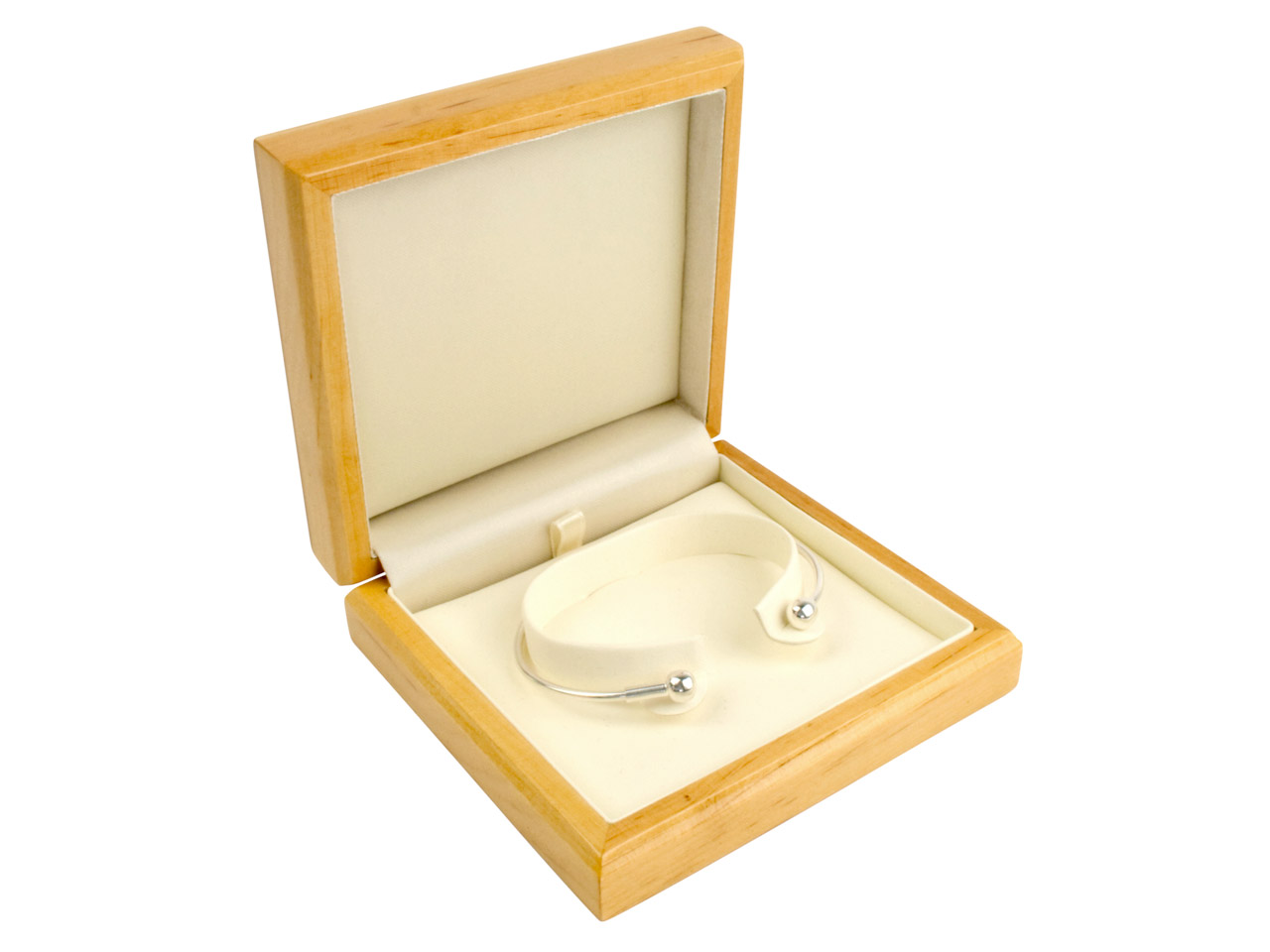 Wooden Bangle Box Maple Colour