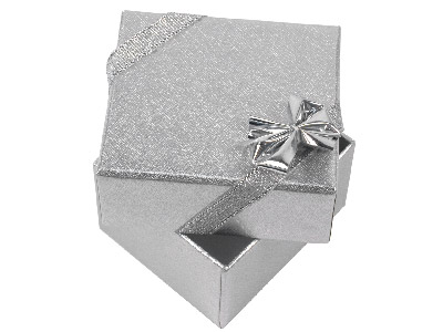 Pack Of 4 Silver Ribbon Ring Boxes