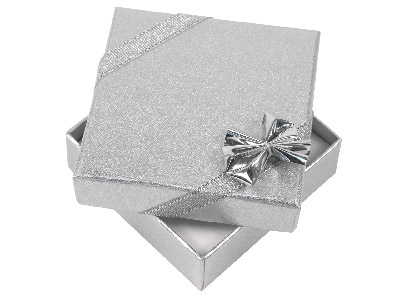 Pack Of 4 Silver Ribbon Pendant Boxes