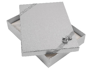Silver Ribbon Necklace Box