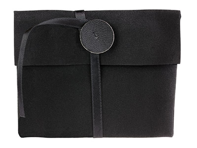 Black Jewellery Pouch Large