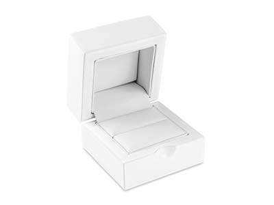 White Wooden Ring Box