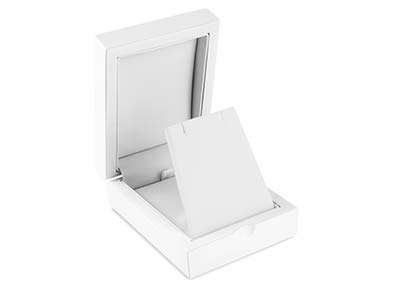 White Wooden Drop Earring Pendant Box