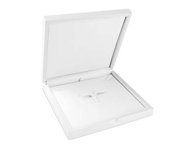 White Wooden Necklace Box