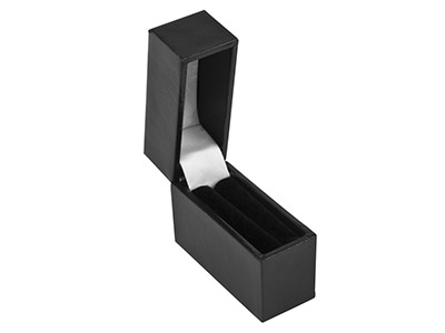Black Leatherette Postal Ring Box