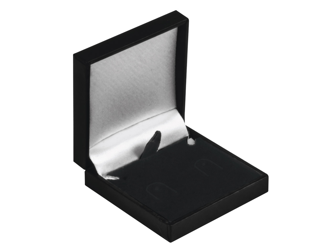 Black Leatherette Postal Earring   Box