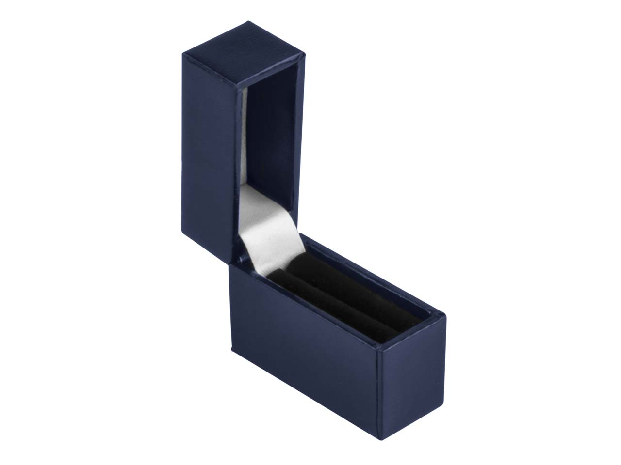 Navy Blue Leatherette Postal Ring  Box