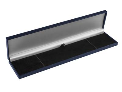 Navy Blue Leatherette Postal       Bracelet Box