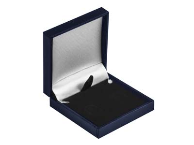 Navy Blue Leatherette Postal       Earring Box